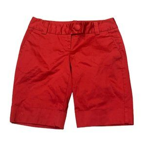 """The Limited Red """"The Drew"""" Fit Shorts Sz 2 Womens"""